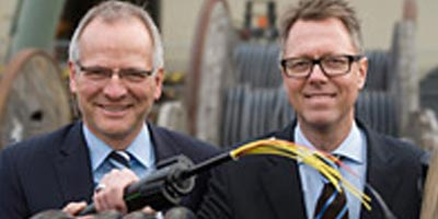 Erster Spatenstich für neues Glasfasernetz in Osnabrück durch osnatel
