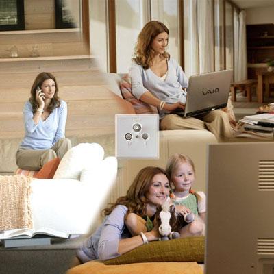 Telefonieren, Surfen und Fernsehen mit Tarifen von Kabel Deutschland