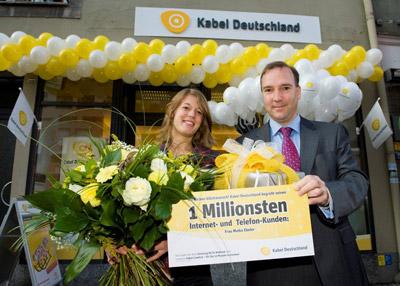 Kabel Deutschland feiert 1 Millionen Breitband Internet Kunden