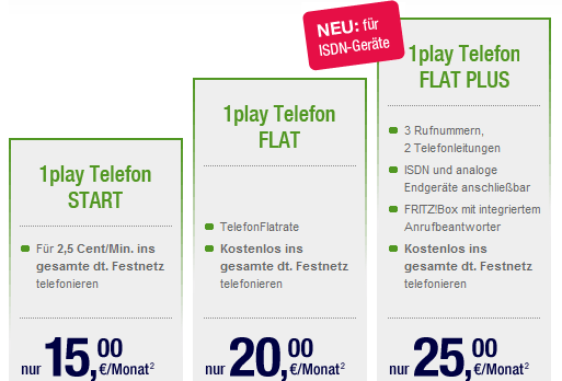 unitymedia 1play telefon neue tarife f r 2010 start flat und flat plus. Black Bedroom Furniture Sets. Home Design Ideas