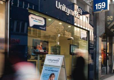 Unitymedia Shop in der Stadt