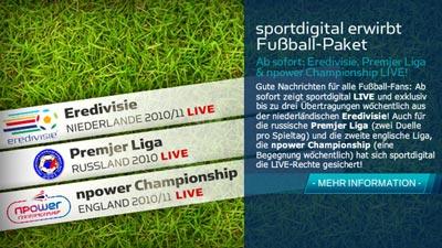 Sportdigital TV erwirbt Fußball Rechte für England, Russland und Holland / Niederlande