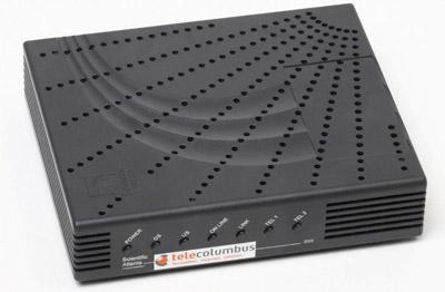 Telecolumbus Kabelmodem für Kabel Internet - surfen per Fernsehkabel