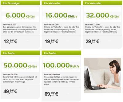 Telecolumbus Internet Flatrate Tarife mit Highspeed zum Sparpreis