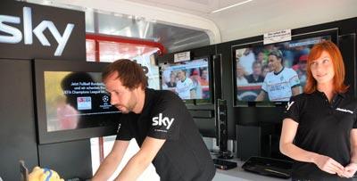 Bezahlfernsehen Sky mit Bundesliga, Sport und Film Paket