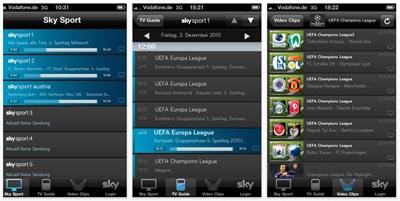 Sky Sport App für iPad, iPhone und iPod touch