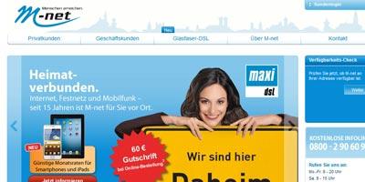 M-Net mit neuem transparenten Werbeauftritt und neuer Internetseite