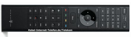 Fernbedienung des Telekom Media Receiver MR303 für Entertain