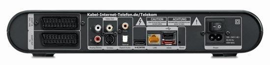 Anschlüsse Rückseite Telekom Media Receiver MR303 für Entertain