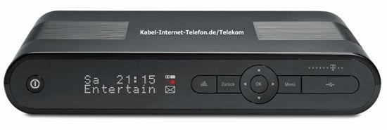 Telekom MR303 Media Receiver für Entertain in schwarz