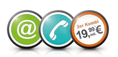 Telecolumbus Angebote für 2er Kombi und 3er Kombi Tarife