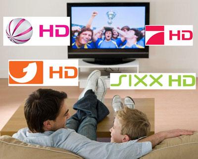 Kabel Deutschland speist Sat.1 HD, Pro7 HD, Kabel1 HD, sixx HD ein