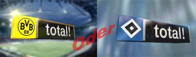 Telekom HSV total! ergänzt Club-TV BVB total! + LIGA total!