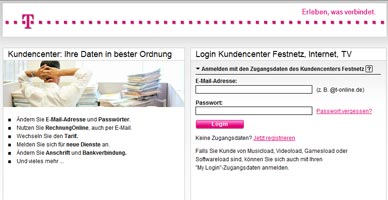 Wartungsarbeiten Telekom.de Kundencenter + Shop (28.07.-01.08.2011)