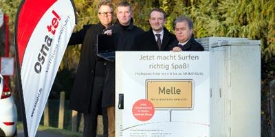 Breitbandausbau im Landkreis Osnabrück durch osnatel auf Kurs