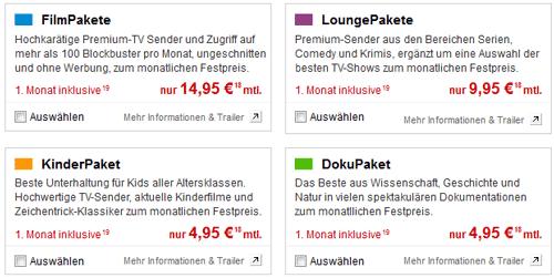 Vodafone TV Pakete (Kinder, Doku, Film etc.) jetzt 1 Monat gratis