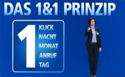 1&1 Prinzip: der neue Werbespot / Fernsehwerbung zum 1und1 Prinzip