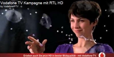 Vodafone Werbung / Spot RTL HD sehen mit Vodafone TV (HDTV)