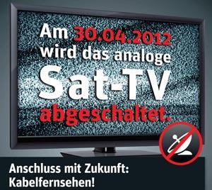 """Kabel Deutschland """"zerstört"""" auf Wunsch alte analoge Sat-Anlagen"""