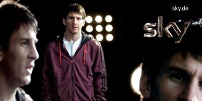 Sky Fernsehwerbung mit Lionel Messi: Sky ist Fußball + Bundesliga