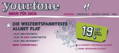 Yourfone startet mit extra günstigem Handytarif / Smartphone Tarif