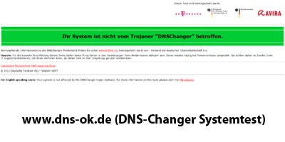 """Überprüfung auf Schadsoftware: """"DNS-Changer"""" (Telekom, BSI, BKA)"""