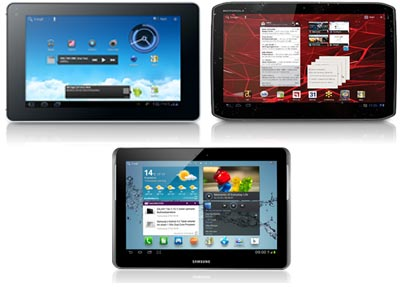 1&1 Tablet Flat mit Tablet-PC Motorola Xoom 2 / Samsung Galaxy Tab