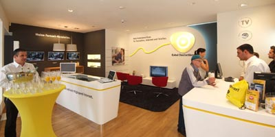 Kabel Deutschland Premium-Store in Mainz mit Kabel-Erlebniswelt