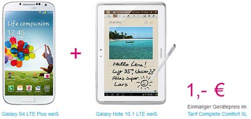 Telekom: Samsung Galaxy Note 10.1 geschenkt zum Galaxy S4 LTE+